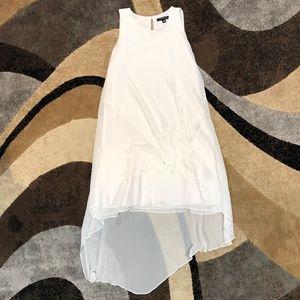 Women's Sharagano White Multilayered Dress, Size 4